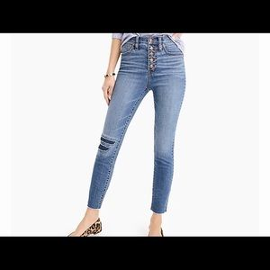 J Crew 10 Inch High Rise Toothpick Jeans